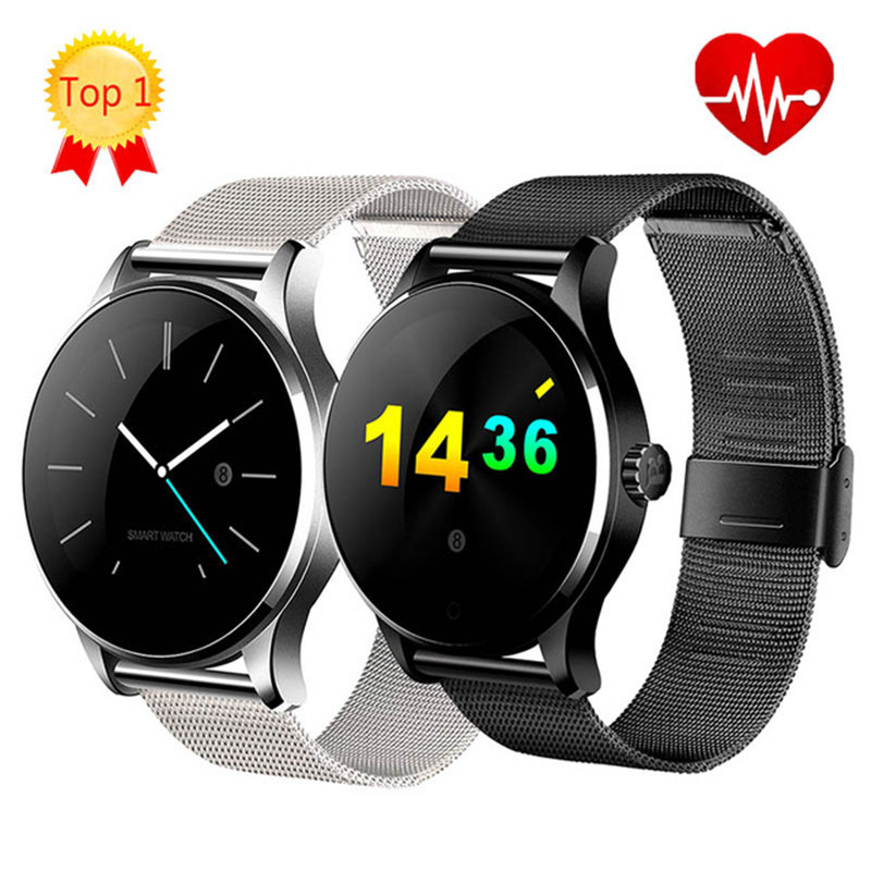 K88H Smart Watch 1.22 Inch Round Screen Support Heart Rate Monitor Bluetooth SmartWatch For Apple Huawei IOS Android pk KW88