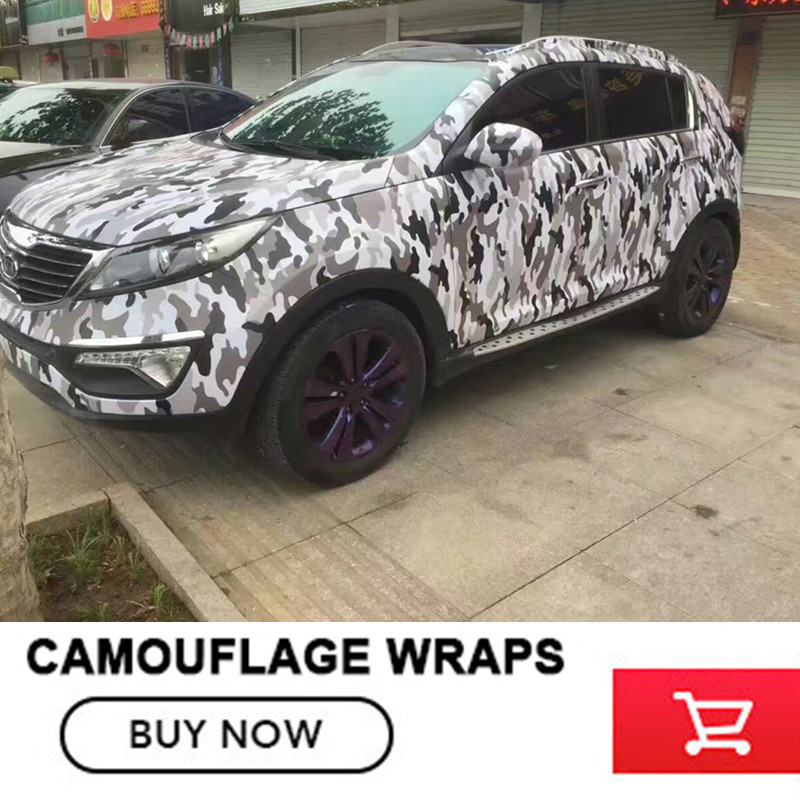 Camo Vinyl Wrap Camouflage Film With Air Bubble Free For Car Wrapping Motocycle Hot Selling Premium Camo Car Sticker Vinyls PVC