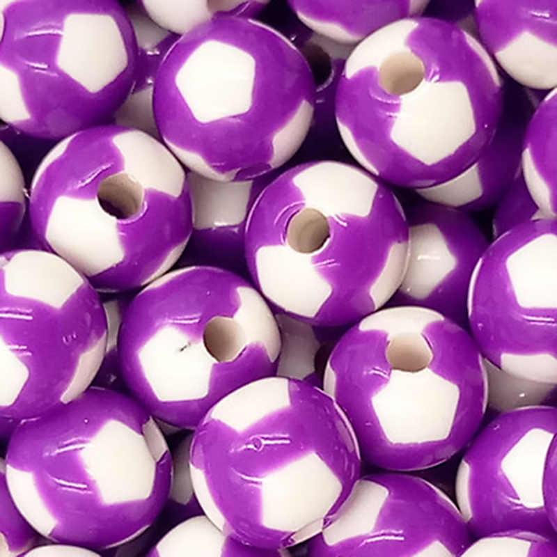 100 adet 8mm akrilik plastik yaratıcı renkli ayak topu desen kadın kız DIY takı dağınık boncuklar