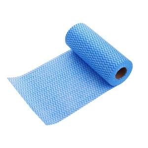 Image 5 - 1 rulo Olmayan Dokuma mutfak havluları Mikro Kumaş Tek Kullanımlık Çizgili Pratik Paçavra Silme Ovma Pedleri Yıkama Temizlik Bezi Havlu