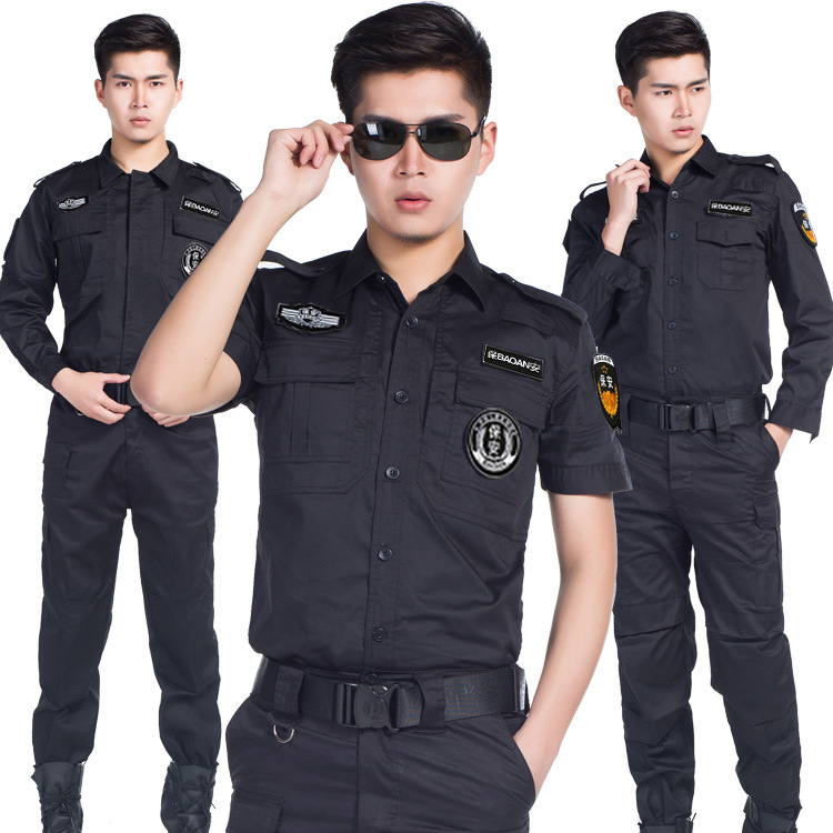 Tactical Security Uniform Short Sleeve Training Costume Suit Spring Autumn Special Service Military Officer High Quality Uniform