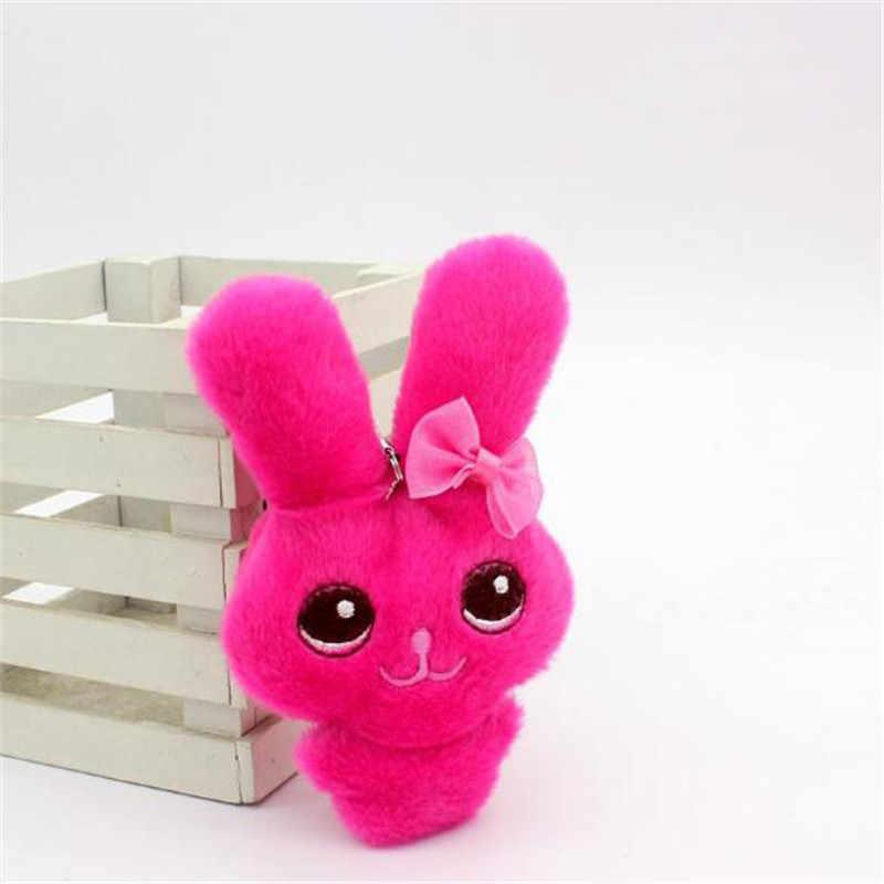 1 sztuk śliczne pluszowe muszka zabawki króliczki mała wisząca laleczka kreatywny Mini miękkie nadziewane Conjoined uroda zabawki lalki na prezenty dla dzieci 12CM