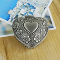 European style Romantic Heart Shape Wedding Ring Boxes Jewelry case Princess Birthday Gift Metal Jewelry Display boxes wholesale