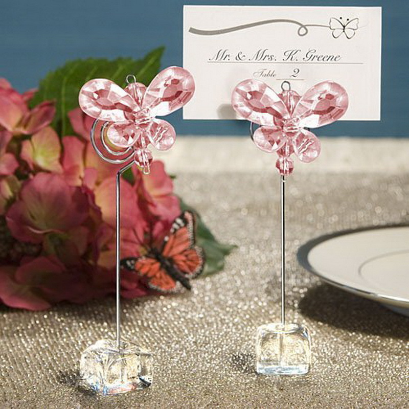 100pcs Lot Wedding Favors Exquisite Crystal Erfly Place Card Holders Name Holder Table Decorations Free Shipping In Party From Home