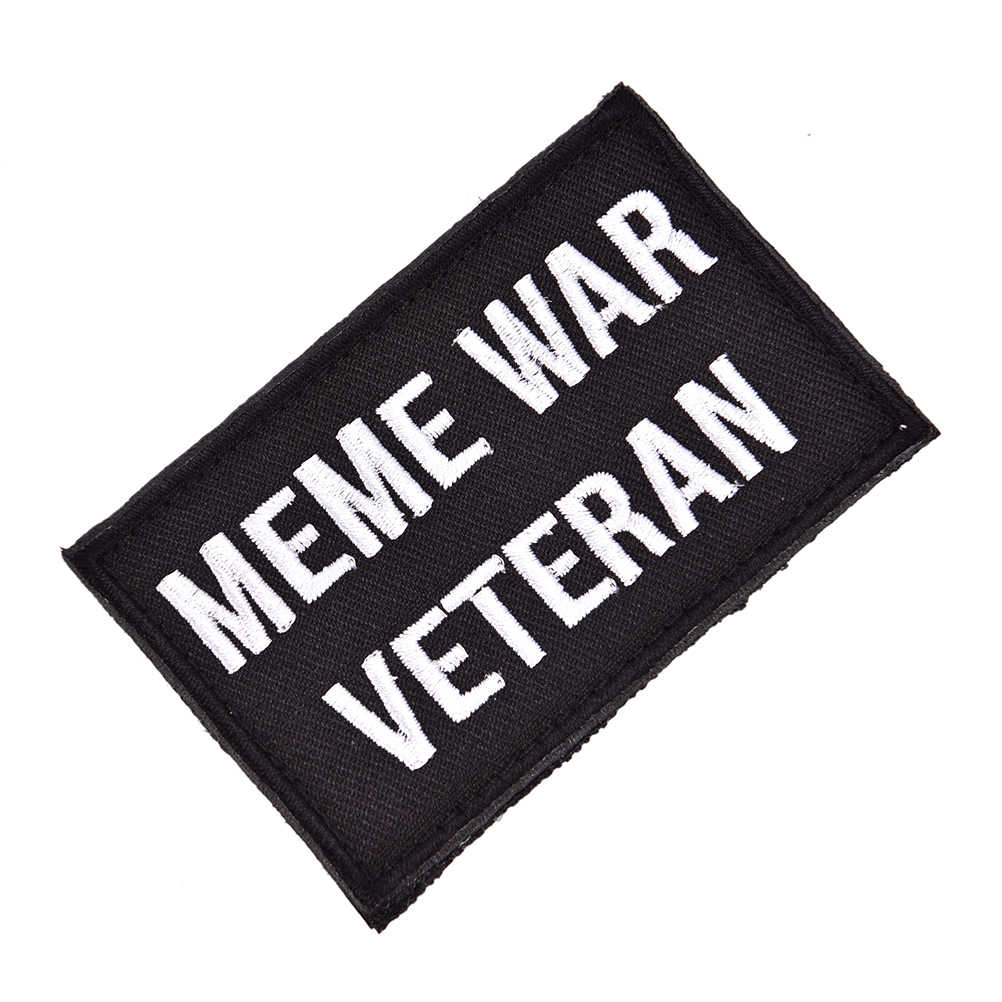Tactical Embroidered Meme War Patch Veteran Morale Emblem Applique Badges  Patches For Clothes Jackets Jeans Accessories