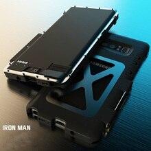 Металлический флип-чехол R-just из нержавеющей стали для samsung Galaxy Note 8 S7 edge S10 Plus противоударный чехол для iphone XS XR MAX 8 Plus