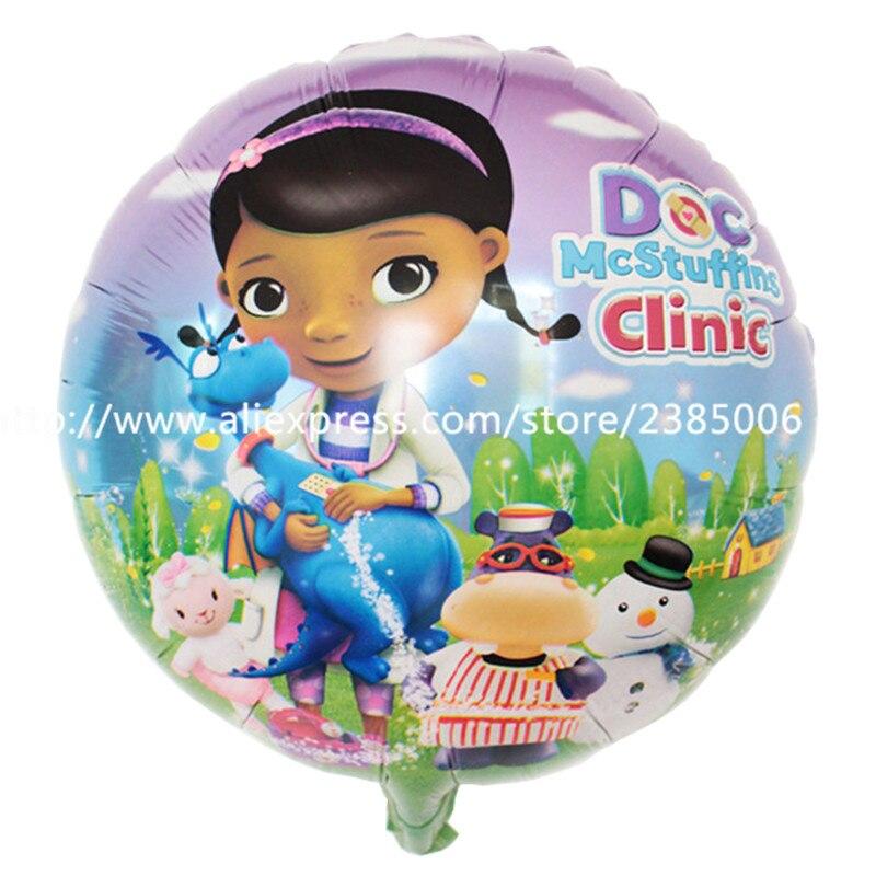 wholesale 50pcs/lots Arrival McStuffins Doctor Helium Balloon Kids Birthday Party Decoration Toys Children Mylar Balloons