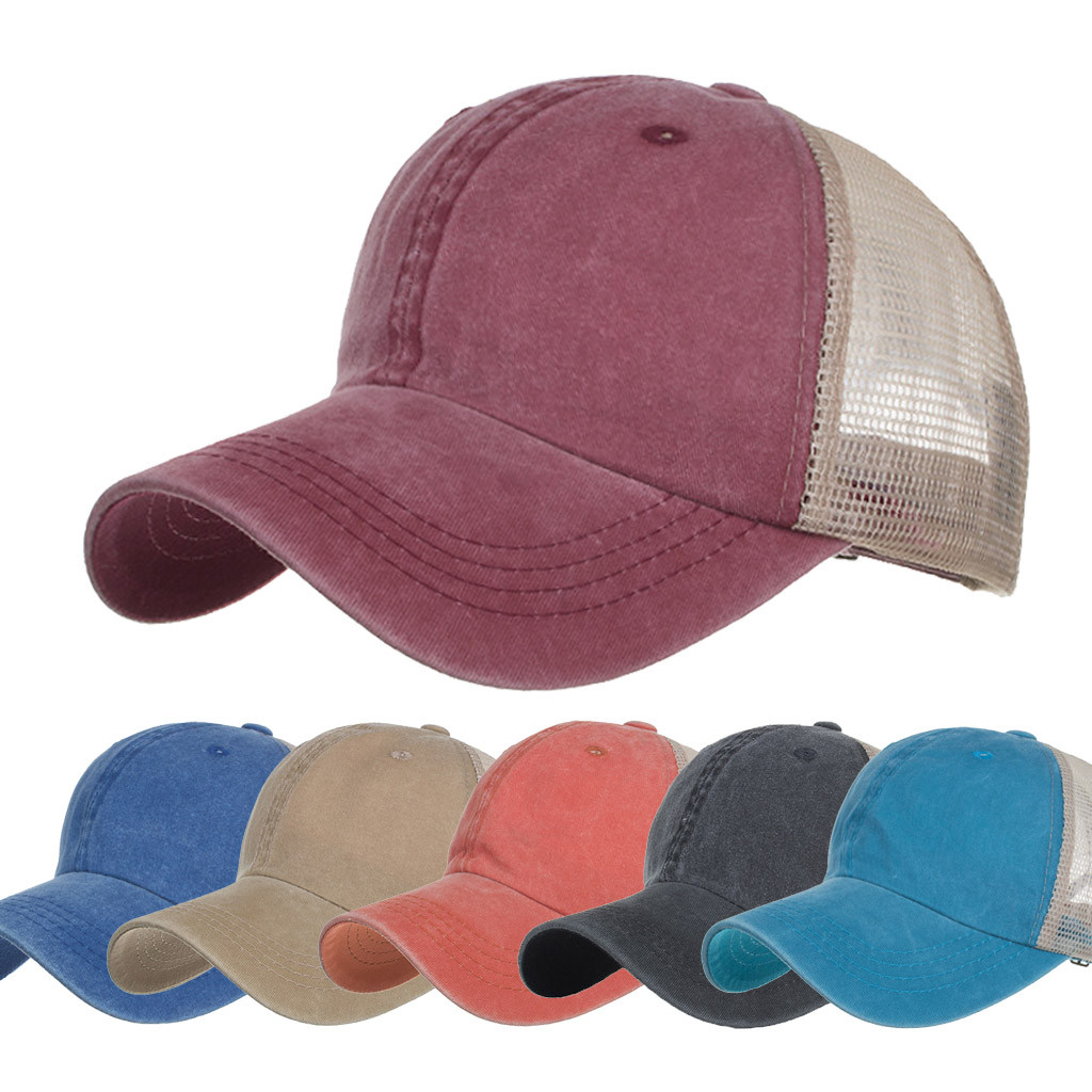 Men women summer baseball caps solid color casual fashion washed cotton caps unisex outdoor sports cap casual hat berretto