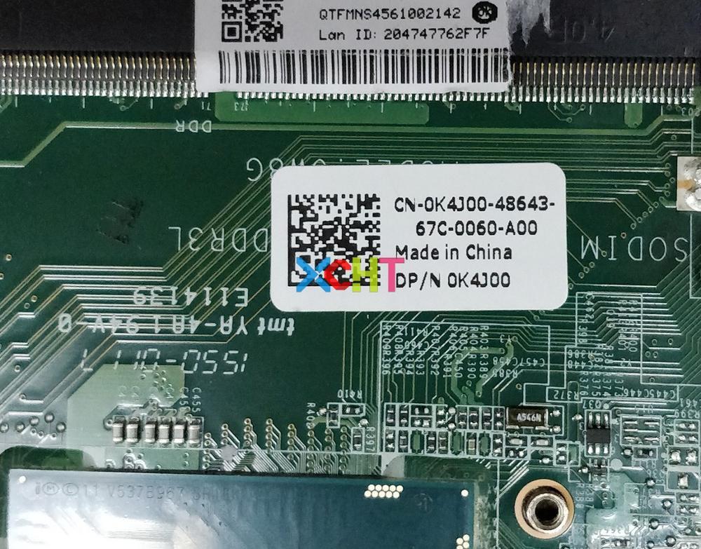 Image 3 - Для Dell Vostro 5480 V5480 CN 0K4J00 0K4J00 K4J00 I3 4005U DAJW8GMB8C1 Материнская плата ноутбука тестирование-in Материнская плата для ноутбука from Компьютер и офис