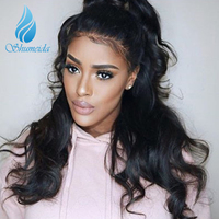 SHUMEIDA Brazilian Body Wave Lace Front Wigs With Baby Hair Remy Glueless Lace Front Human Hair