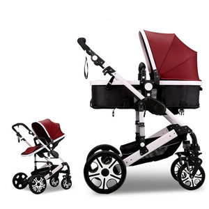 Multi-function Adjustable Baby Stroller Reversible Two Way Forward Baby Trolley Portable Foldable High Landscape Pushchair Cart
