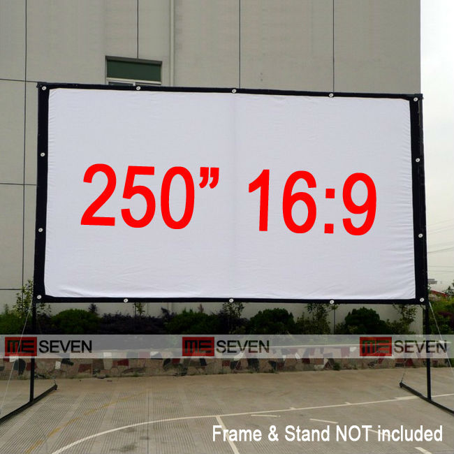 Home theater projection screen size
