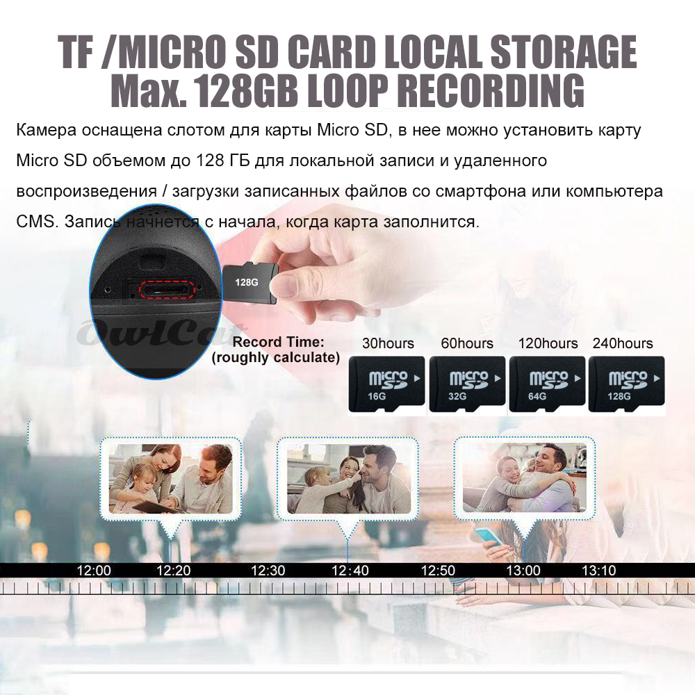 Image 5 - OwlCat Wireless Street Dome IP Camera Wifi 5MP 2MP Black Surveillance Tour Auto Cruise with Microphone Speaker Talk 128GB card-in Surveillance Cameras from Security & Protection