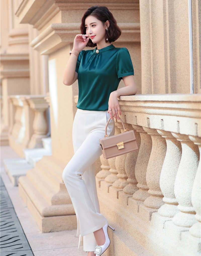 Formal OL Styles Women Business Suits With Blouses And Pants Fashion Casual Office Ladies Pants Suits Pantsuits 2019 Summer