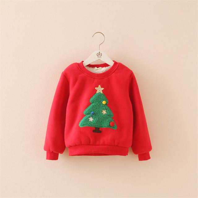 Selling Retail ! Winter In Autumn Of 2016 The New Add Wool Warm The Christmas Tree Fleece Of The Girls Jacket  Free Postage