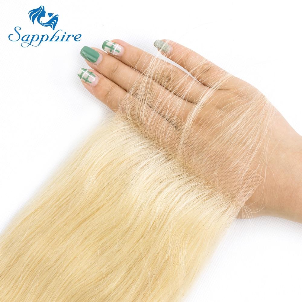 Sapphire 613 Blonde Brazilian Remy Hair Straight 2/3 Bundles With - Hair Salon Supply - Photo 6