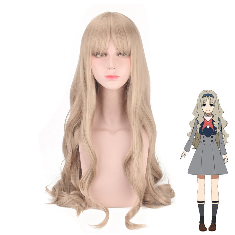 DARLING in the FRANXX CODE 556 Wig Cosplay Costume KOKORO Women Long Heat Resistant Synthetic Hair Party Wigs