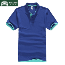 Brand New Polo Shirt Men High Quality Patchwork Mens Casual Cotton Sho