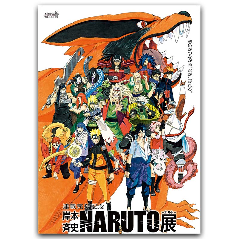Naruto Shippuden Anime Game Poster Art Silk Fabric Print 30x45cm 60x90cm Sasuke Wall Picture Room Decor