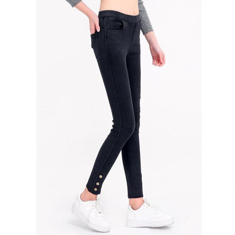 Befangen Selbstbewusst Gehemmt Verlegen Heißer Jeans Für Frauen Denim Hosen Mit Tasche Elastizität Mode Taste Cowboy Slim Leggings Frauen Tragen Außerhalb Plus Größe 2018 Neue Unsicher
