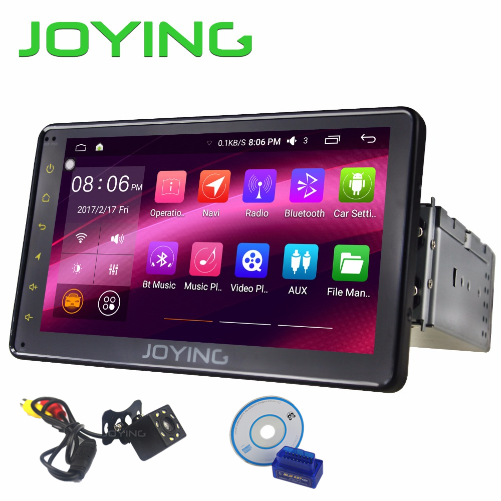 JOYING Android 6.0 Car Radio screen system Single 1 DIN 7 Universal Stereo Quad Core Car Head Unit support 3G/4G/WIFI/OBD/SWC android 5 1 car radio double din stereo quad core gps navi wifi bluetooth rds sd usb subwoofer obd2 3g 4g apple play mirror link