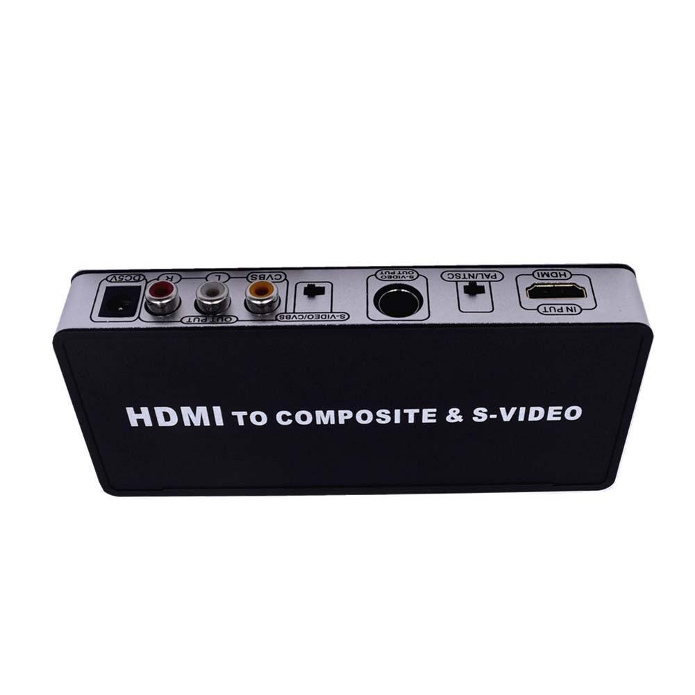 Digital HDMI to AV+SVIDEO Adapter Universal HDMI to Composite/S-Video PAL/NTSC Converter QJY99 2016 new style1080p hdmi to av s video adapter s video hdmi2av s cvbs video converter free shipping hdmi to av