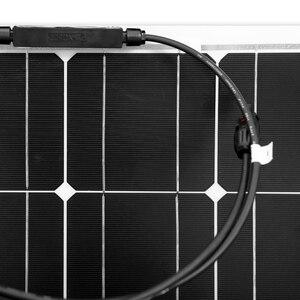 Image 5 - Anaka 100W 12V esnek monokristal silikon güneş panelleri güneş pili şarj için ev/RV/açık panel güneş çin 200W