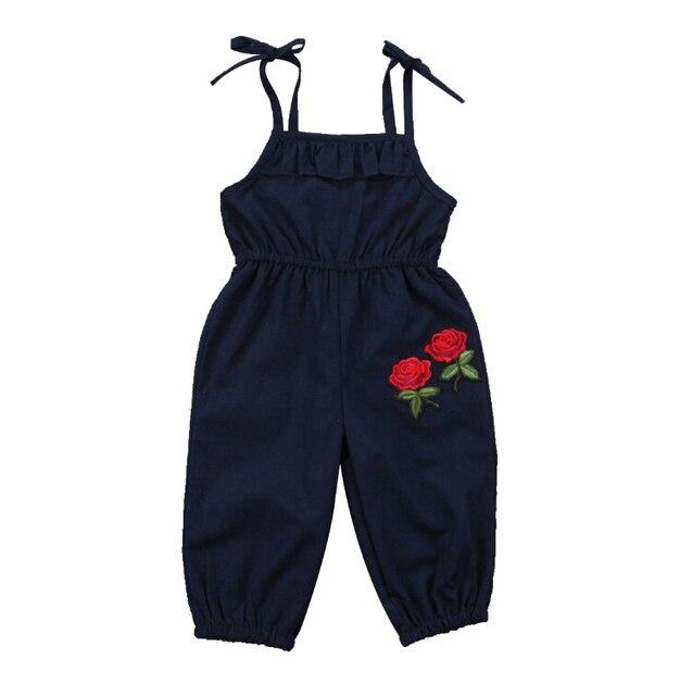 Crianças recém-nascidas Do Bebê Meninas Roupas de Algodão Romper Sem Mangas Verão Flor Bonito Macacão Outfits Menina Nova 1-6 T