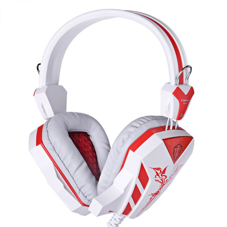 Cosonic CD-618 40mm Driver Unit Two-channel Stereo Gaming Headset Headphones with Volumn Control Mic LED Light for PC Computer (2)
