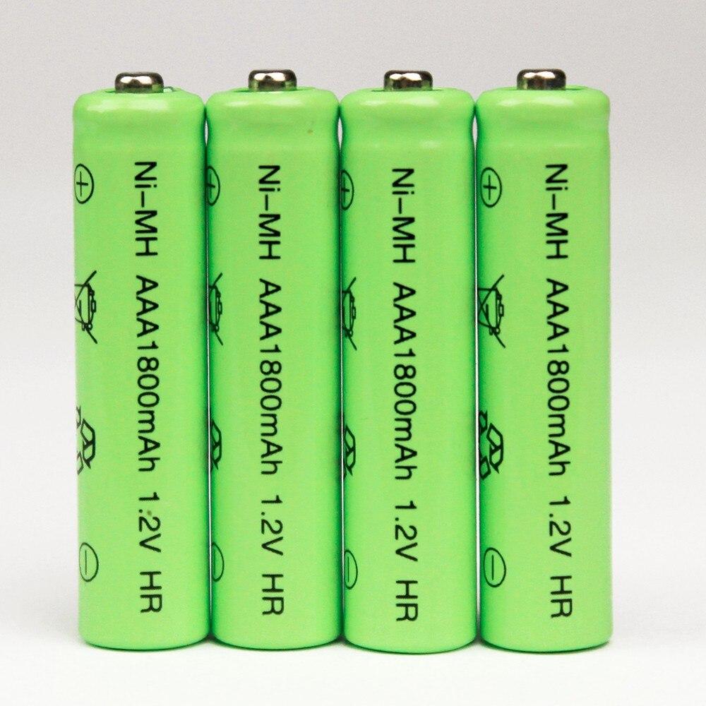 4pcs 1800mAh Ni-MH AAA Battery NI-MH 1.2V Neutral rechargeable battery batteries Free shipping