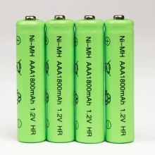 4pcs 1800mAh Ni-MH AAA Battery NI-MH 1.2V Neutral rechargeable battery batteries Free shipping