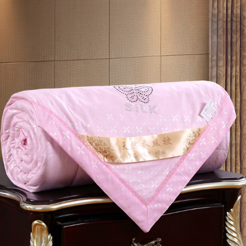 Winter Silk Comforters Autumn Lazy Quilt Family Blanket Dormitory Mantle Covered Blanket for Summer winter Bed Linings in Comforters Duvets from Home Garden