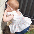 Ins Sweet Toddler Baby Girl Floral Tops Baby Girl Hollow Blouse Princess Kids Summer Clothings
