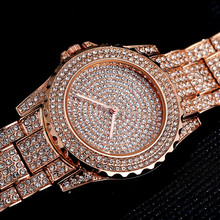 Top Brand Silver Luxury Women Dress Watch Rhinestone Ceramic Crystal Quartz Watches Magic Wrist Female