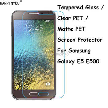 Tempered Glass / Clear PET / Matte PET - Front Screen Protector Protective Film Guard Shield For Samsung Galaxy E5 E500 5.0 image