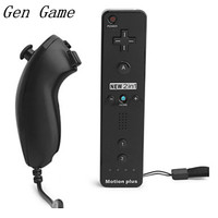 2in1 Remote Nunchuk Combo Built In MOTION PLUS For Nintendo Nintend For Wii Controller Controle With