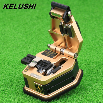 KELUSHI Fiber cleaver SKL-60C Yüksek Hassasiyetli Balta 16 yüzey bıçak Kablo Kesme Bıçağı FTTH için Altın