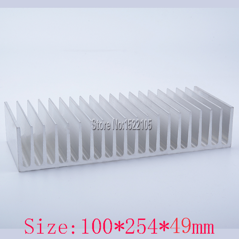 Heatsink 100x254x49mm equipment Aluminum heatsink heat sink high power radiator for cooling 1 pcs aluminum radiator heat sink heatsink 60mm x 60mm x 10mm black