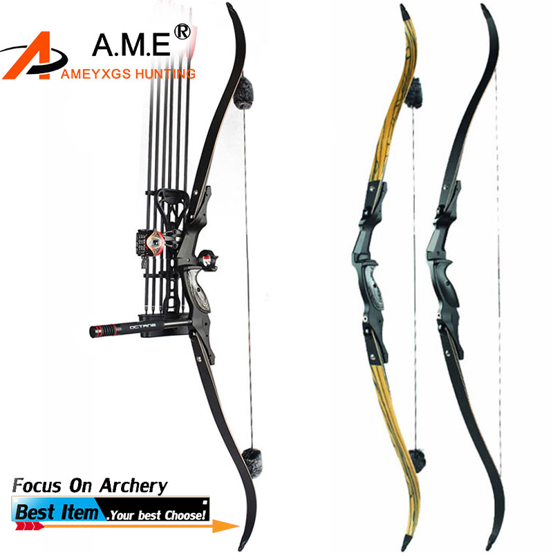 1Set 30-60lbs F161 II Archery Pro ILF American Hunting Recurve Bow Archery Arrows Sight Stabilizer Quiver Tack Down