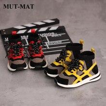 kid shoes 2019 New Children mesh&leather sneaker Fashion&com