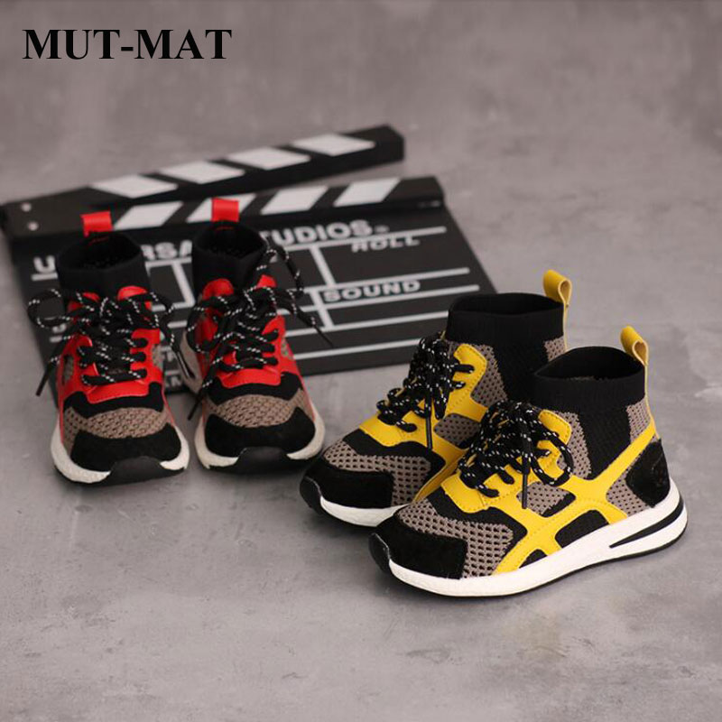 Kid Shoes 2019 New Children Mesh&leather Sneaker Fashion&comfortable Sneakers Boys&girls Breathable  Non-slip Shoes