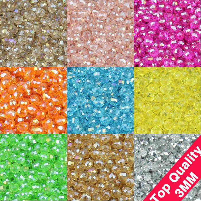 JHNBY yuvarlak şekil lüks avusturyalı kristaller boncuk yüksek kalite 3mm 200 adet gevşek rondelles cam boncuklu bilezik takı yapımı DIY