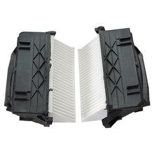 2 sztuk filtry powietrza do MERCEDES BENZ C CLASS W204 C300 C350 E CLASS W212 E300 E350 GL CLASS X164 GL320 ML350 6420942404 6420942304