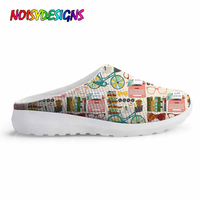 NOISYDESIGNS Library Books Ladies Slippers and Sandals Outside Breathable Slippers Women Summer Beach Shoes Femme Sabot Shoes