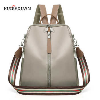Women Double Zipper Backpacks Multifunction Oxford Cloth School Bag Backpacks For Girls Female Vintage Backpack Shoulder Bags A4 - DISCOUNT ITEM  51% OFF All Category