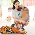New Lovely Plush Toy Realistic Dog Tiger Stuffed Doll Kawaii Animal Throw Pillow Children Birthday Gift