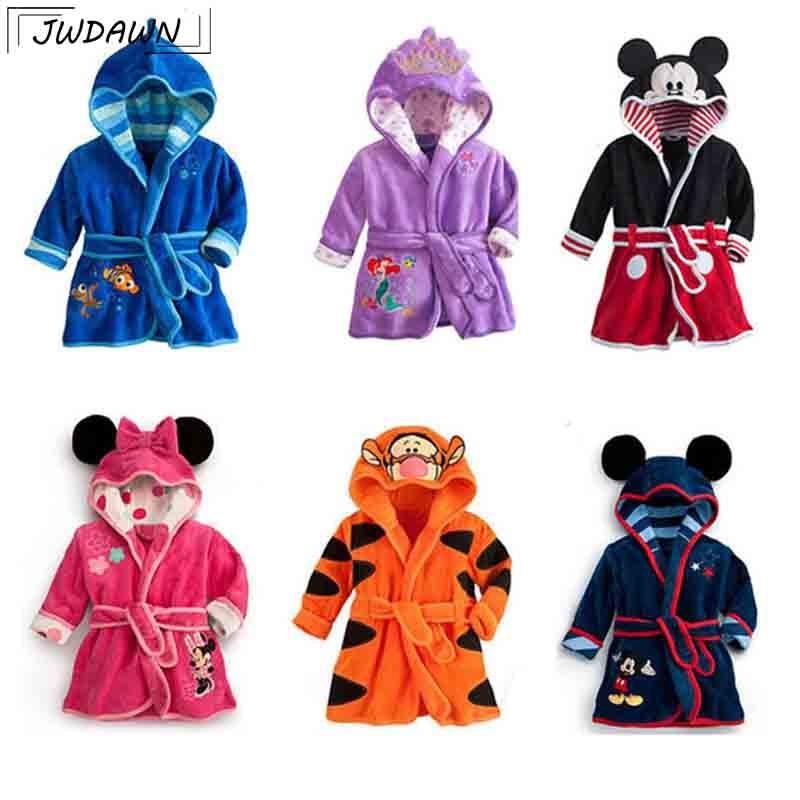 venta outlet fecha de lanzamiento baratas para descuento € 8.38 20% de DESCUENTO|Albornoz de bebé para niños Minnie Mickey bata de  terciopelo suave para niñas 2018 pijamas calientes de Coral para niños ropa  ...