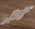Moda Nupcial Crystal Rhinestone Del ajuste Del Applique Para la boda Nupcial diadema sombrero cinturón waitsband Traje accesorio banda