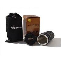 420 מצחיק ניקון עדשת המצלמה ספל תה ספל קפה תרמוס נסיעות ספל עם מכסה בקבוק תרמי מבודד תרמוס בקבוק מים