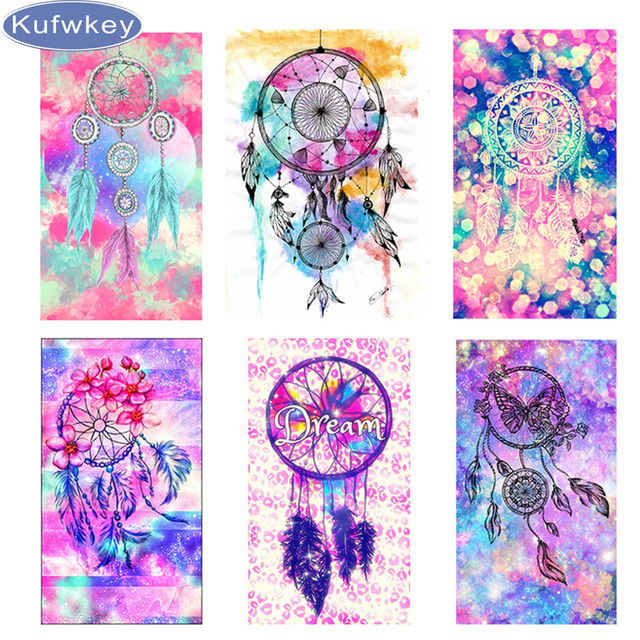 Can Dream Catchers Get Full 40D Diy Square Diamond Embroidery Painting Indian Dream catcher of 31